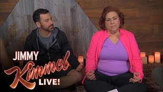 Download Jimmy Kimmel, Cousin Sal, Guillermo, Yehya & Aunt Chippy go to Meditation Class Video