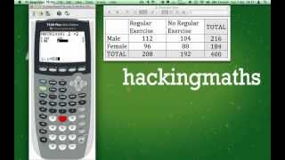 Download Perform a Chi-squared test of Independence on the TI-84 plus. Video