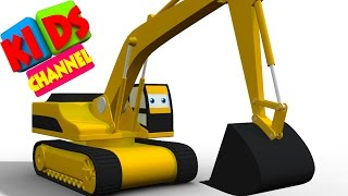 Download Digger | cartoon vehicles | 3D videos for kids | cartoon about cars Video