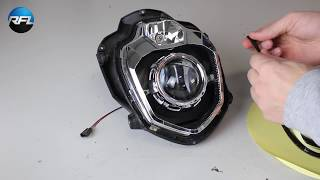 Download Yamaha MT 03, bi-xenon projector installation with own designed mounting brackets Video