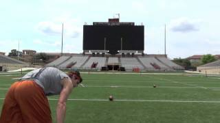 Download NFL Draft 2012 - Justin Tucker, Texas Kicker - 10 for 10 FGs Running Video Video