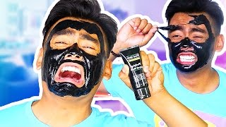 Download PAINFUL FACE MASK PEEL OFF CHALLENGE! Video