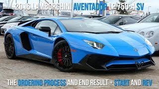 Download Buying a 2016 Lamborghini LP750-4 SV in Blu Le Mans, Start to Finish + Rev Video