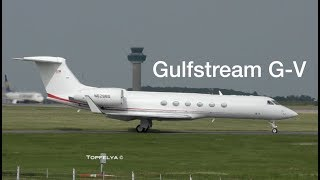 Download Most Beautiful Business Jet Gulfstream G V departing London Stansted airport Video