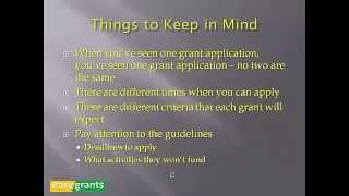 Download Non Profit Grants 101 Video