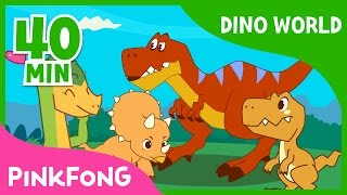 Download Dino World | T-Rex and more | +Compilation | Dinosaur Musical | Pinkfong Stories for Children Video