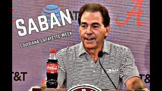 Download Alabama Crimson Tide Football: Nick Saban Presser before Louisiana-Lafayette Video