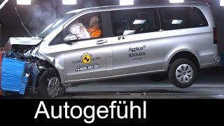 Download Mercedes V-Class V-Klasse 2015 crash test & ESC test - Autogefühl Video
