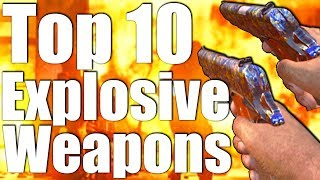 Download TOP 10 EXPLOSIVE WEAPONS IN 'CALL OF DUTY ZOMBIES! ' Video