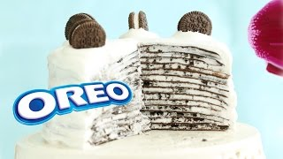 Download Oreo Mille Crepe Cake Mille Crepes - No-Bake Recipe Video