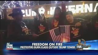 Download Napolitano | Flag Burning Outside of Trump Towers Video