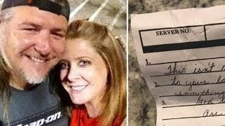 Download Waitress Slips Note On Couple Way Out - Read Words And Realize They Need To Act Immediately Video