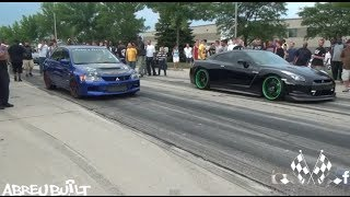 Download Nissan GTR vs Mitsubishi Evo Video