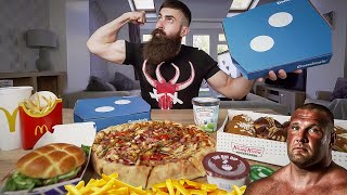 Download THE TERRY HOLLANDS 10,000 CALORIE STRONGMAN CHEAT MEAL CHALLENGE | BeardMeatsFood Video