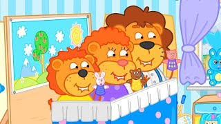 Download Lion Family Puppet Show at Home Cartoon for Kids Video