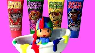 Download POCOYO na Banheira com a Patrulha Canina Tintas de Banho TOYSBR | Paw Patrol Bath Paint bathtime Video