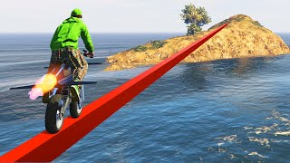 Download WORLDS LONGEST IMPOSSIBLE TIGHTROPE! (GTA 5 Funny Moments) Video
