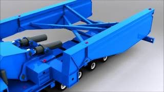 Download The new high girder bridge Cap. 500 T with Silamas transport Thailand Video
