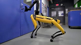 Download New dog-like robot from Boston Dynamics can open doors Video