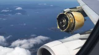 Download Air France Airbus A380 Catastrophic Engine Failure Video