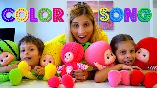 Download The Colors Song - Learn Colors with Nursery Rhymes Educational Video by Kids Learning Songs Video