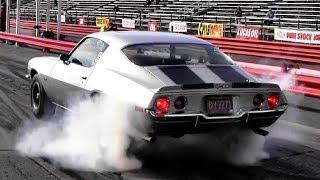 Download 1965 Corvette (L79) vs 1970 Camaro Z28 (LT1) 1/4 Mile Drag Race - Road Test TV ® Video