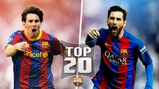 Download Lionel Messi Top 20 Goals out of all 500 For Barcelona (English Commentary) Video