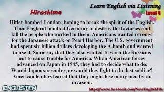 Download Learn English via Listening Level 4 Unit 2 Hiroshima Video