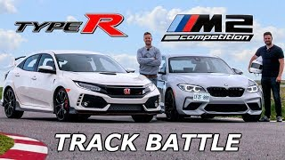 Download BMW M2 Competition vs Honda Civic Type R - TRACK REVIEW // DRAG RACE & LAP TIMES Video