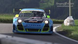 Download Epic run: Porsche 997 GT3-R with full onboard at Hillclimb Gurnigel 2016 by Jürg Aeberhard Video