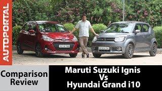 Download Maruti Suzuki Ignis Vs Hyundai Grand i10 Test Drive Comparison Review - Autoportal Video