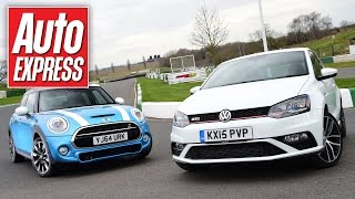 Download New VW Polo GTI vs MINI Cooper S: hot-hatch showdown Video