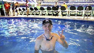 Download Swimming in the pool at Marlins Park Video