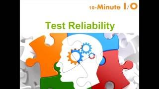 Download 10-minute I/O - Test Reliability Video