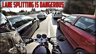 Download LANE SPLITTING IS DANGEROUS | Daily riding on SUZUKI GS 500E (8) Video