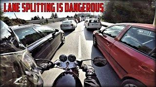 Download LANE SPLITTING IS DANGEROUS | Daily riding on SUZUKI GS 500E (8) Video