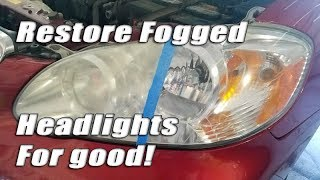 Download How to restore foggy headlights permanently for good! Video