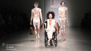 Download Disabled Models hit the catwalk at FTL Moda's FW15 fashion show Video