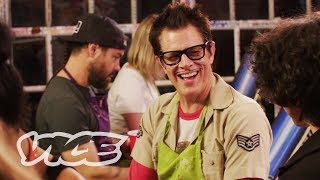 Download Drinking Tequila at a Paint and Sip Class with Johnny Knoxville and Chris Pontius Video