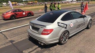 Download 1200HP Mercedes C63 GAD Motors vs 970HP Porsche 997 Turbo Video