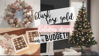 Download ROSE GOLD HOLIDAY DECOR ON A BUDGET! | DECORATE WITH ME! Video