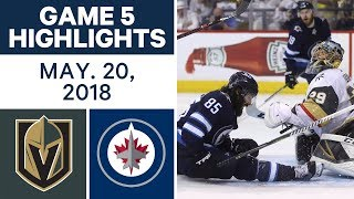 Download NHL Highlights | Golden Knights vs. Jets, Game 5 - May 19, 2018 Video