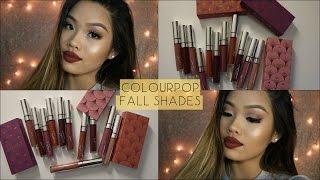 Download ColourPop Fall Shades (Fall Bundles) - Lip Swatches Video