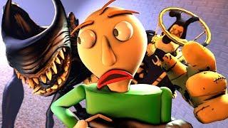 Download Beast Bendy & Brute Boris VS. Baldi (Bendy And The Ink Machine Chapter 5 Animation SFM) Video