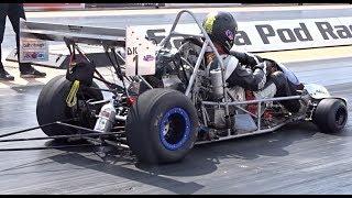 Download Drag Kart Running a 9.81 @ 131mph at Santa Pod USC 2017 Video