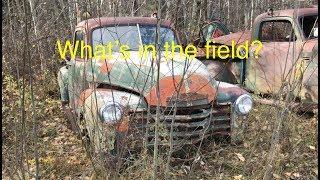 Download Fall Harvest! Farm Field Junkyard Tour, classic cars and trucks. Video