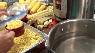 Download Absolute Easiest Way to Freeze Fresh Sweet Corn Off the Cob - 16 Bags of Corn EASY Video