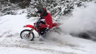 Download A Honda CRF150R Rip in the Snow with Carson Brown Video