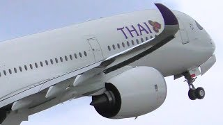 Download INAUGURAL | Thai Airways A350-900 Landing Takeoff & WATER SALUTE ● Melbourne Airport Plane Spotting Video
