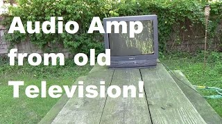 Download Audio Amplifier COMPLETELY from an Old Television! Video